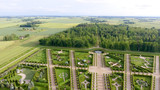 Overhead aerial view of Rundale Castle, Lithuania - 169173830