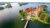 Aerial view of Trakai Castle, Lithuania - 169173849