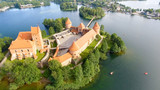 Aerial view of Trakai Castle, Lithuania - 169173866