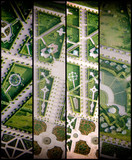 Panoramic overhead view of Rundale Castle gardens, Lithuania - 169173889