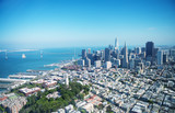 Aerial view of Downtown San Francisco skyline from helicopter, CA - 169174801