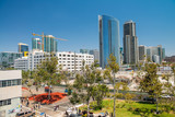 SAN DIEGO, CA - JULY 30, 2017: View of Downtown buildings on a beautiful sunny day. San Diego hosts more than 34.9 million visitors each year - 169175245