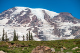 Mount Rainier on a beautiful sunny day, WA - 169175405