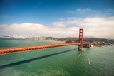 Aerial view of San Francisco Golden Gate Bridge from Helicopter - 169175470