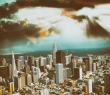 Aerial view of Downtown San Francisco skyline from helicopter, CA - 169176071