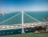 Aerial view of San Francisco-Oakland Bay Bridge from helicopter, CA - 169177225