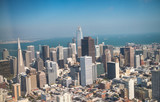 Aerial view of Downtown San Francisco skyline from helicopter, CA - 169177470