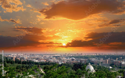 Skyline of Madrid, Spain