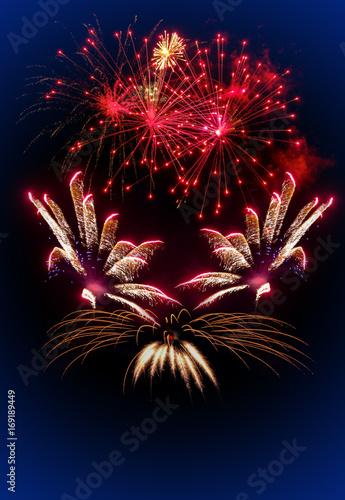 Poster Silvester Feuerwerk