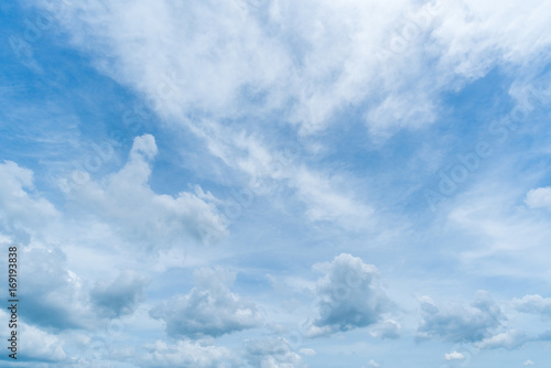 clear blue sky background,clouds with background. - 169193838