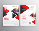 business brochure in red black triangle shape template design - 169195046