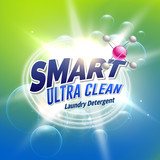 laundry detergent advertising concept design for product packaging