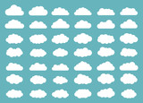 Set of clouds. Cloud icon. Vector illustration. - 169199449