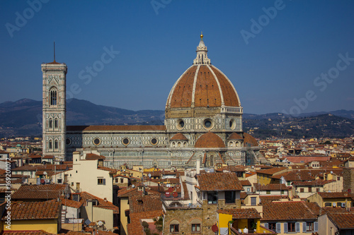 Fotobehang Florence Florence dome city scape, Italy