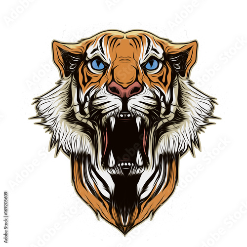 Aluminium Reznik голова тигра на абстрактном фоне