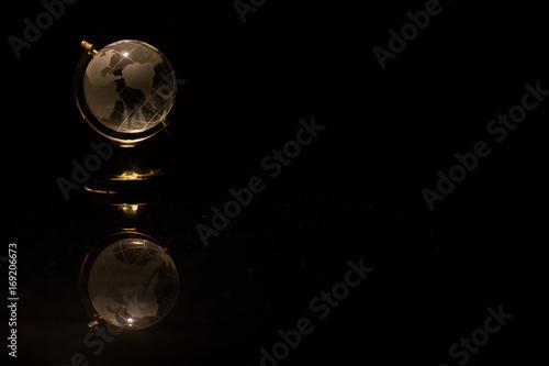 Globe mini world symbol concept