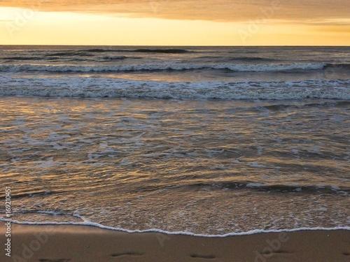 Aluminium Noordzee Wellen am Strand Schaumkrone