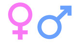 male and female gender symbols - 169216629