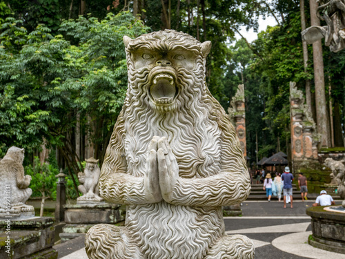 Aluminium Aap Sculpture in the Sacred Monkey Forest Sanctuary in Ubud, Bali, Indonesia