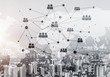 Modern city and social net as concept for global networking