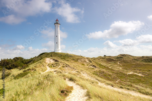Fotobehang Vuurtoren Lyngvig lighthouse