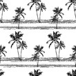Cotton fabric hawaiian seamless pattern