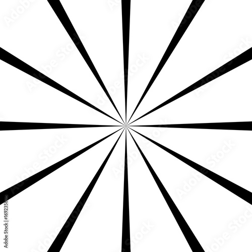 Circular geometric motif. Abstract grayscale op-art element - 169235896