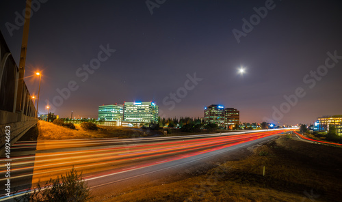 Fotobehang Nacht snelweg Highway long exposure