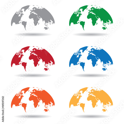 World map globe isolated on white background vector unique world world map globe isolated on white background vector unique world map shape world map gumiabroncs Image collections
