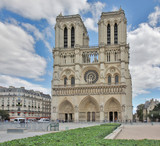 Notre-Dame Cathedral in Paris, France.