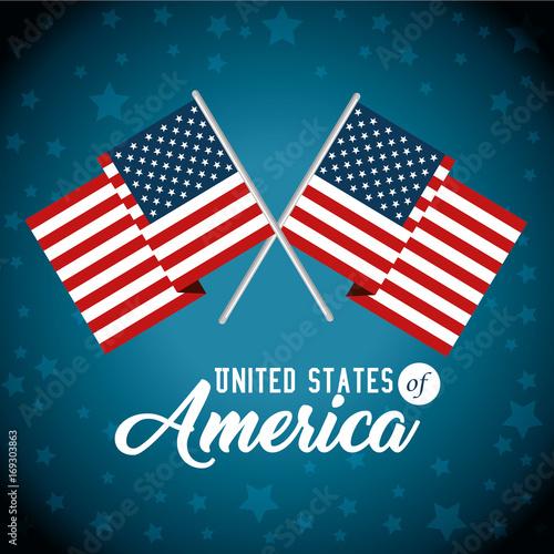 Flag of United States of America theme Vector illustration