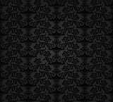 Seamless black charcoal floral wallpaper pattern