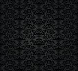 Seamless black charcoal floral wallpaper pattern
