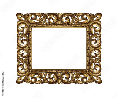 Old golden frame.