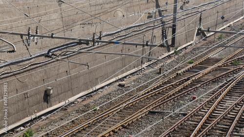Papiers peints Voies ferrées Binari della ferrovia