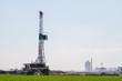 Drilling for oil in rural Colorado.