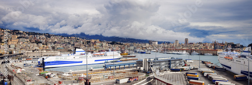 Aluminium Liguria Port of Genoa - panoramic view