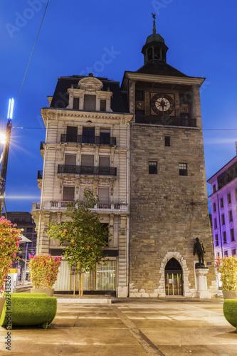 Foto Murales Island Tower in Geneva