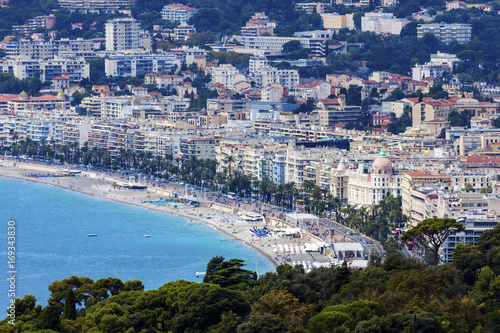 Foto op Aluminium Nice Nice panorama seen from Mt Boron