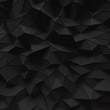 abstract black low poly background structure pattern 3d render. blank empty backdrop with copy space technology modern future business style concept.