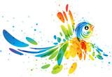 Fantasy colorful bird