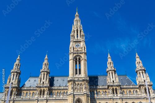 Foto op Canvas Wenen Rathaus (City hall) in Vienna