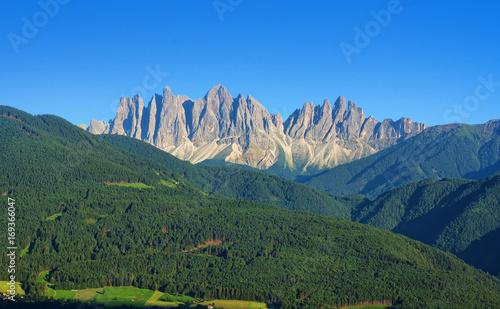 Fotobehang Natuur Italian Alps of Dolomites in Val di Funes