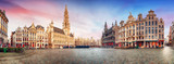 Brussels, panorama of Grand Place in beautiful summer day, Belgium - 169374038