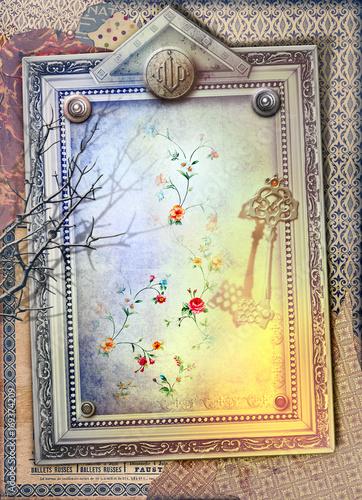Staande foto Imagination Finestra gotica,antica e misteriosa con chiave incantata