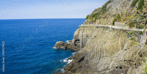 Foto op Canvas Liguria Lovers path or Via dell Amore in Cinque Terre, Italy