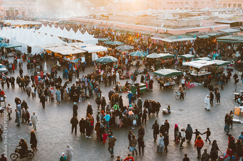 Fotobehang Marokko Jemaa el Fnaa