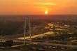 Margaret Hunt Hill Bridge at Sunset, Dallas City, Texas