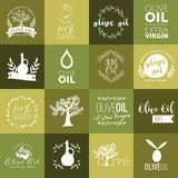 Set of olive oil labels, badges and logos for design. Vector illustration. - 169383202