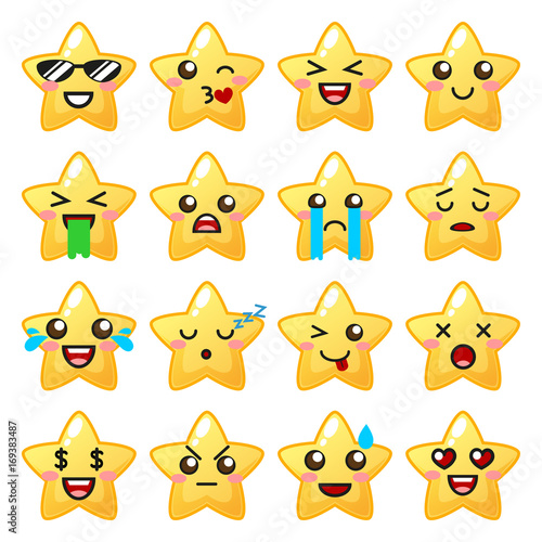 Star emoji. Cute emoticons - 169383487